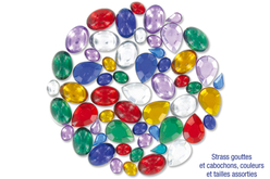 Strass gouttes et cabochons - 240 pièces - Strass, cabochons – 10doigts.fr