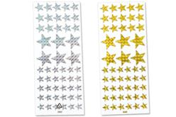 Étoiles holographiques - Set de 102 stickers - Gommettes Noël – 10doigts.fr