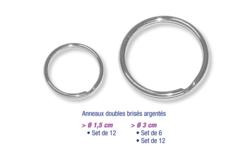 Anneaux métalliques brisés argentés - Porte-clefs, Anneaux, Mousquetons – 10doigts.fr