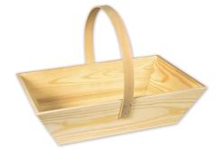 Panier décoratif rectangulaire en bois - Corbeilles et paniers – 10doigts.fr