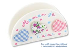 Range-serviettes ou courrier en terre cuite blanche - Céramiques – 10doigts.fr
