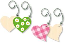 Porte-clefs cœurs - Set de 4 - Porte-clefs – 10doigts.fr