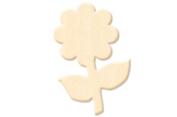 Fleur N°2 en bois naturel - Motifs brut – 10doigts.fr