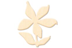 Fleur N°4 en bois naturel à décorer