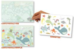 """Set carte postale """"Ici tout baigne"""""""