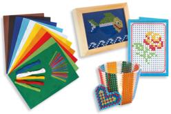 Kit Cartes à broder colorées et ses accessoires - Kits Mercerie – 10doigts.fr