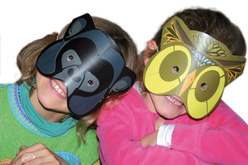 Masques animaux + gommettes