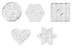 Set des 5 plaques géométriques assorties pour perles fusibles