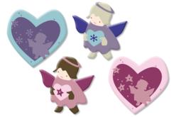 Amours d'ange en bois décoré