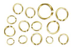 Anneaux ronds brisés dorés - diamètres au choix - Anneaux simples ou doubles, ronds ou ovales – 10doigts.fr