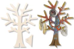 Arbre porte-bijoux en bois