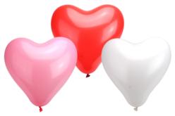 Ballons coeurs, couleurs assorties - set de 100 - Ballons, guirlandes, serpentins – 10doigts.fr