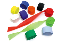 Papier crépon en bandes - Set de 10 rouleaux - Papier crépon – 10doigts.fr