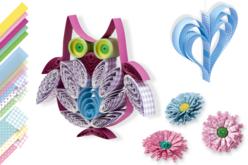 Bandes de papier Quilling motifs fantaisies assortis - Quilling – 10doigts.fr
