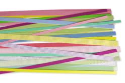 Bandes de papier Quilling - motifs et couleurs assortis - Quilling – 10doigts.fr