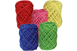 Bobines de jute naturelles - Set de 5 couleurs vives - Raphia et ficelles – 10doigts.fr