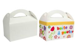 Boites à goûter en carton blanc ou kraft - Lot de 6 - Boîtes en carton – 10doigts.fr