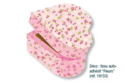 Boîte coeur en bois, avec fermeture aimantée - Boîtes et coffrets – 10doigts.fr