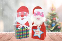 Boîte Père Noël en carte forte blanche - Kits et Activités de Noël – 10doigts.fr