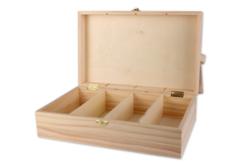 Boite rectangle 4 compartiments - 31 cm - Boîtes et coffrets – 10doigts.fr