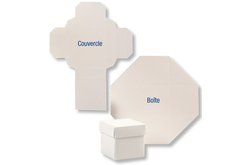 Boites carrées blanches
