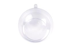 Boule plastique ouverte - 8 cm - Plastique Transparent – 10doigts.fr