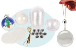 Boules en plastique transparent 3 en 1