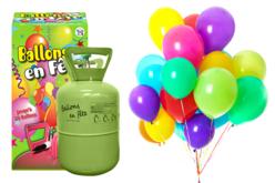 Bouteille d'hélium jetable pour 30 ballons - Ballons, guirlandes, serpentins – 10doigts.fr