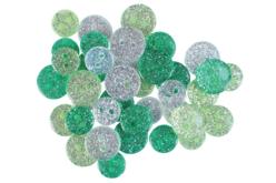 Boutons pailletés camaïeu vert - Set de 36 - Boutons – 10doigts.fr