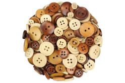 Boutons ronds en bois naturel verni - 300 pièces - Bouton – 10doigts.fr