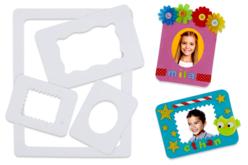 Cadres en carton blanc - Set de 48 - Cadres en carton – 10doigts.fr