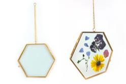 Cadre en verre hexagonal 15x13 cm
