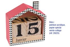 Calendrier perpétuel maison - Divers – 10doigts.fr