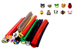 Canes animaux - 10 motifs - Décorations Fimo – 10doigts.fr