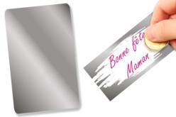 Feuille de film à gratter adhésive - 20 x 15 cm - Films et feuilles plastique – 10doigts.fr
