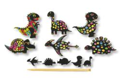 Cartes à gratter thème Dinosaure + accessoires - 6 formes - Carte à gratter – 10doigts.fr