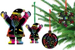 Cartes à gratter thème Noël + accessoires - 8 formes - Cartes à gratter – 10doigts.fr