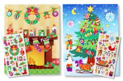 Cartes de Noël à personnaliser avec des stickers - Gommettes et stickers Noël – 10doigts.fr