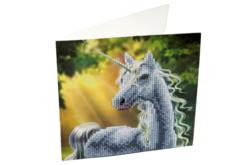 Broderie diamant Licorne - Carte 18 x 18 cm - Broderie Diamant – 10doigts.fr
