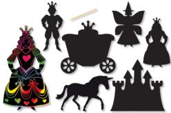 """Cartes à gratter thème """"Conte de fées""""- 6 formes - Carte à gratter – 10doigts.fr"""