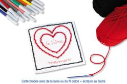 Cartes cœur à broder et à colorier - Set de 6 - Supports à broder – 10doigts.fr