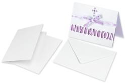 Cartes et enveloppes en papier blanc nacré - Set de 5 - Carterie – 10doigts.fr