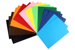 20 cartes fortes 220 gr/m² - 10 couleurs assorties - Carterie – 10doigts.fr