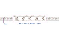 Chaîne argentée - 1 m - Chaînes bijoux – 10doigts.fr