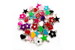 Pendentifs charm's colorés - 20 charm's - Perles intercalaires & charm's – 10doigts.fr