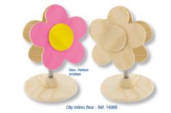 Clip mémo fleur