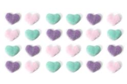Stickers cœurs en fourrure couleurs pastel - Coeurs – 10doigts.fr