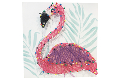 Coffret String art Flamant rose - String Art – 10doigts.fr