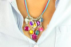 """Collier """"pierres précieuses"""" - Kit pour 1 collier - Bijoux, bracelets, colliers – 10doigts.fr"""