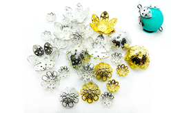Décors pour perles or et argent - 24 décors - Perles intercalaires – 10doigts.fr